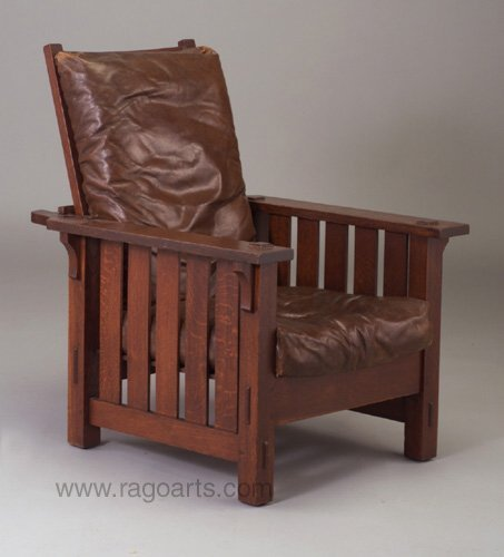 485: ONONDAGA SHOPS Morris chair (no. 798) wi