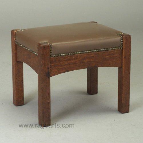 486: L. & J.G. STICKLEY footstool with new ta