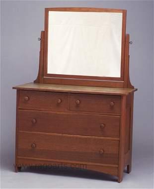 489: L. & J.G. STICKLEY four-drawer dresser (