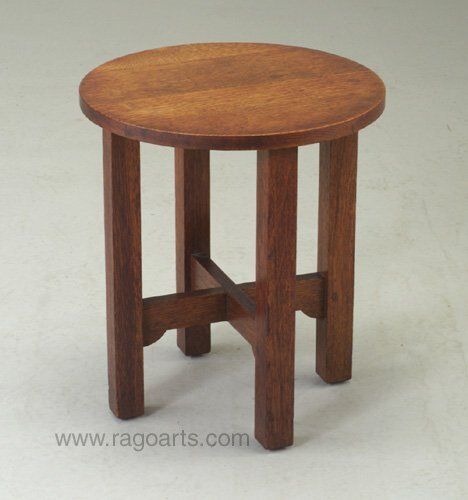 491: Tabouret attributed to L. & J.G. STICKLE