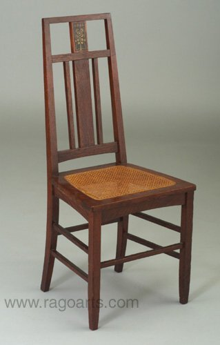 496: STICKLEY BROTHERS side chair with three