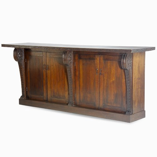 10: MARIE ZIMMERMANN Hand-carved work bench with twiste
