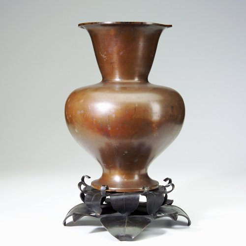 11: MARIE ZIMMERMANN Large Chinese-form vase in heavy s