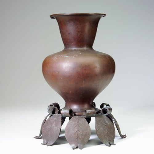 12: MARIE ZIMMERMANN Large Chinese-form vase in heavy c