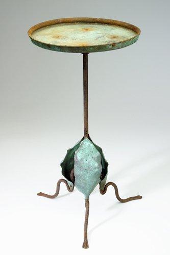 18: MARIE ZIMMERMANN Garden table in original green-pat