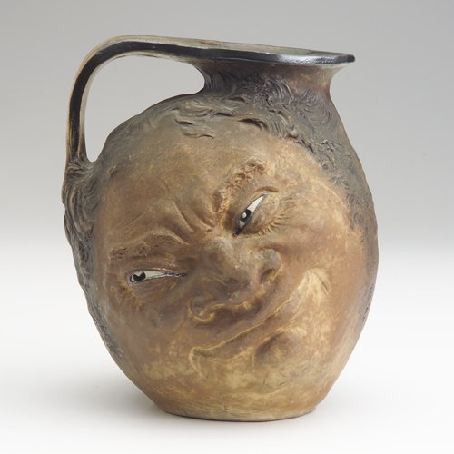 219: MARTIN BROTHERS Large double stoneware face jug in