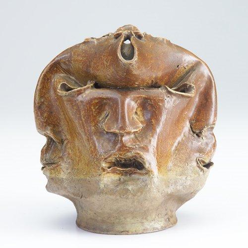 220: MARTIN BROTHERS Unusual sculptural stoneware vesse