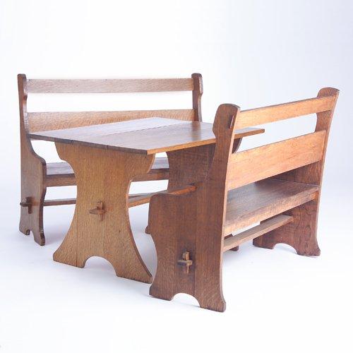 510: GUSTAV STICKLEY Rare three-piece child's set of tw