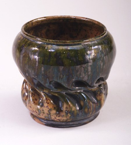 4: Fine GEORGE OHR vessel with cupped rim and