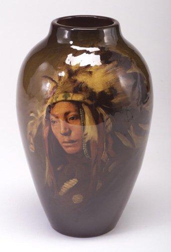 23: Exceptional ROOKWOOD Standard glaze vase