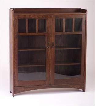 L. & J.G. STICKLEY Two-door bookcase