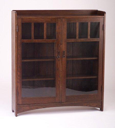 478: L. & J.G. STICKLEY Two-door bookcase