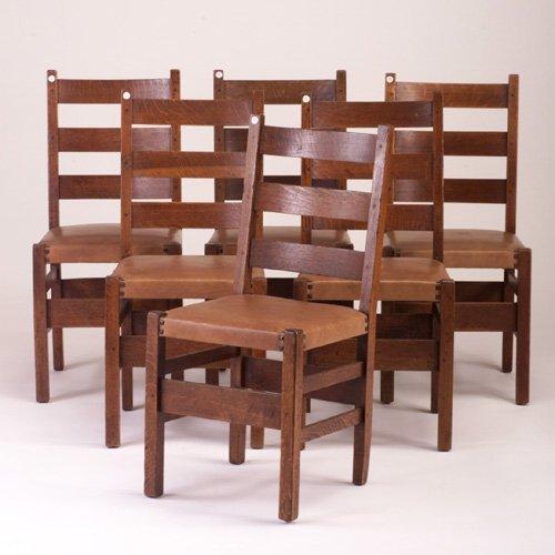 488: GUSTAV STICKLEY no. 306 1/2 Sidechairs