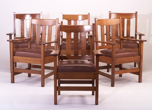 489: STICKLEY BROTHERS Set of 6 Armchairs