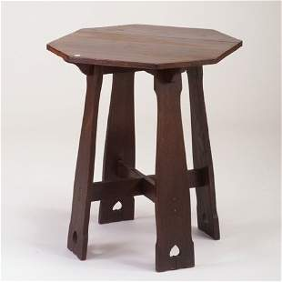 LIMBERT Lamp table with heart cut-outs.