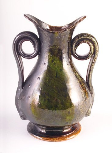 15: GEORGE OHR Fine, early and large corseted vase with