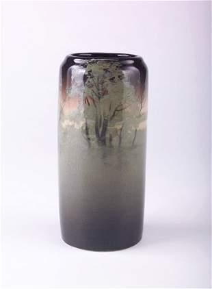 ROOKWOOD Fine and rare Iris Glaze cylindrical vase