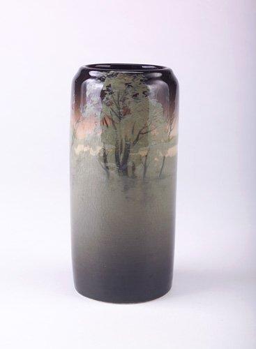 19: ROOKWOOD Fine and rare Iris Glaze cylindrical vase