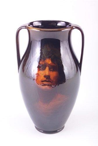 20A: ROOKWOOD Fine Standard glaze urn beautifully paint