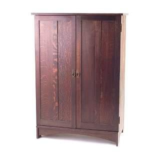 GUSTAV STICKLEY Two-door wardrobe with paneled doo