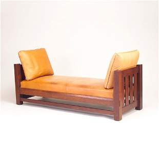 L. & J.G. STICKLEY Daybed with tapering posts, fou