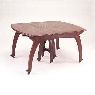 GUSTAVE SERRURIER BOVY Rectangular mahogany dining