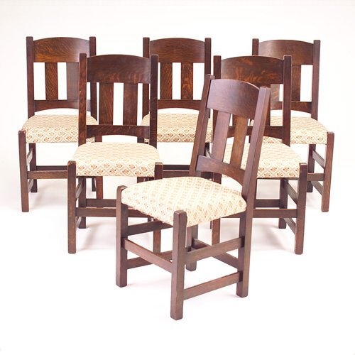 647: LIMBERT Set of six sidechairs with two vertical ba