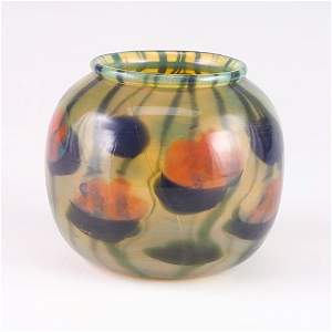 1000: TIFFANY Paperweight glass vase, decorated with wa