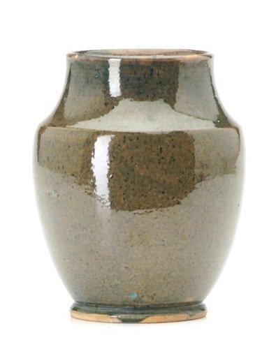 2: NEW ORLEANS ART POTTERY Rare vase of orange clay cov