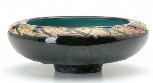 12: FREDERICK RHEAD/SANTA BARBARA Rare footed bowl deco