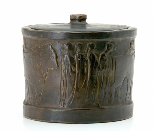 17: BRUSHGUILD Exceptional biscuit jar and cover