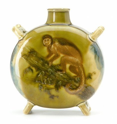 24: EDWIN BENNETT/ALBION Pilgrim flask with flaring fee