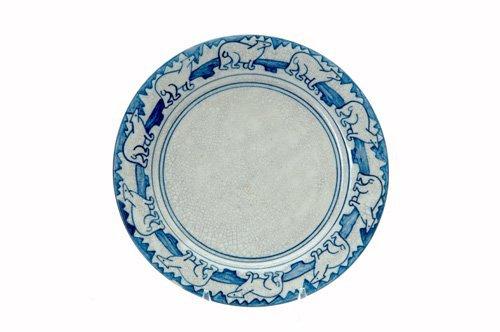 451: DEDHAM Crackleware plate no. 1 in the Polar Bear d