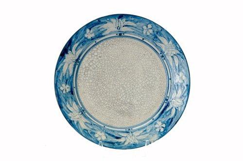 453: DEDHAM Early Crackleware plate no. 1 in the Raised