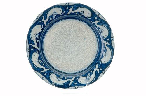 454: DEDHAM Crackleware breakfast plate no. 2, in the D