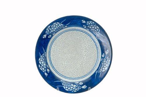 459: DEDHAM Crackleware plate no. 2, in the Turtle desi