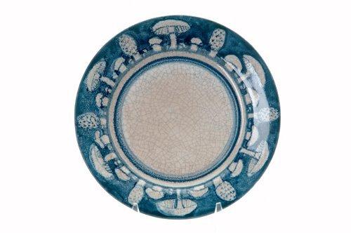 460: DEDHAM Crackleware breakfast plate no. 2 in the Mu