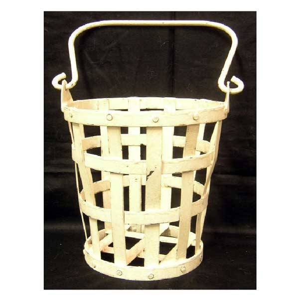 6: Metalware - A wrought iron hay bucket of tapering fo