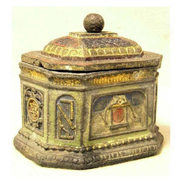 7: Metalware - A nineteenth century lead Masonic casket