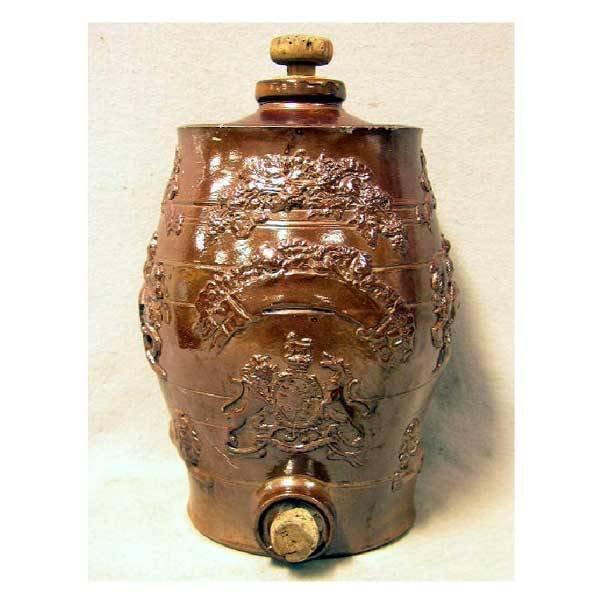 8: Ceramics - A Victorian stoneware salt glazed firkin