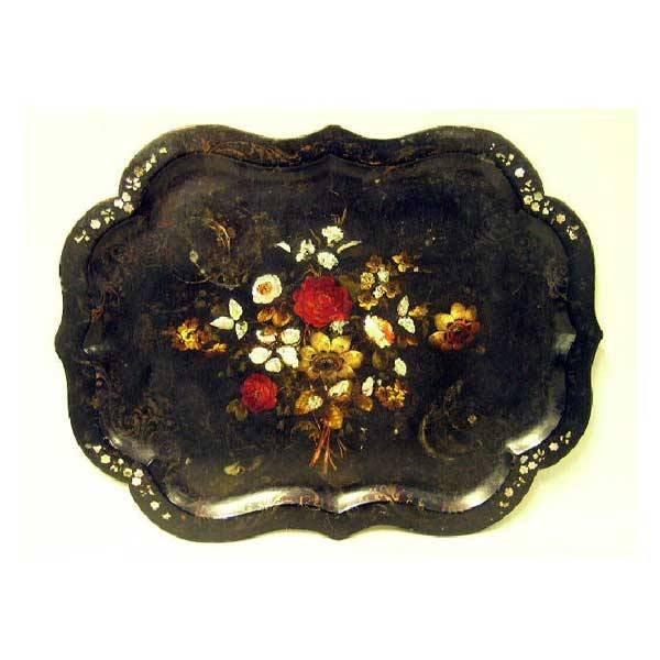 22: Collectables - A large Victorian papier-mâché tray,