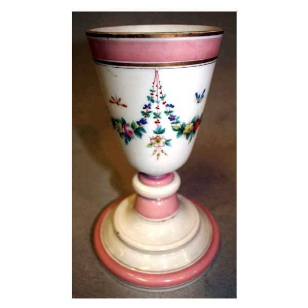 2204: Glass - A Victorian French opaline glass vase of