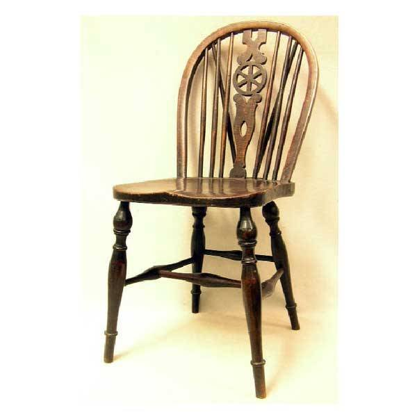 3133: Furniture - A set of eight nineteenth century elm