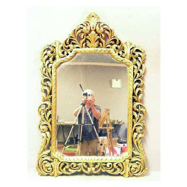 3134: Mirrors - A reproduction carved giltwood mirror,