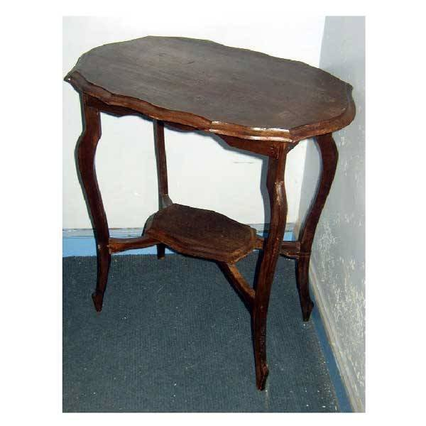 3147: Furniture - A stained Edwardian window table, of