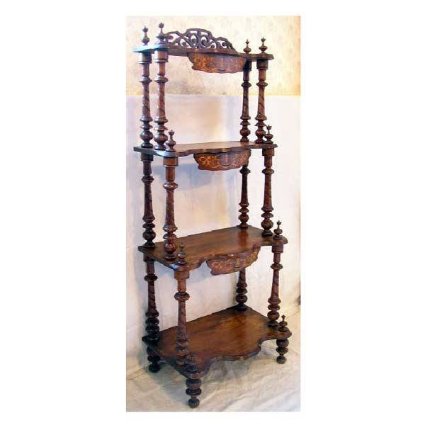 3148: Furniture - A Victorian walnut whatnot, with four