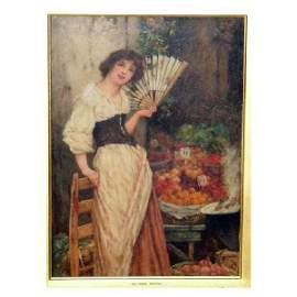 3301: Fine Art - Oliver Rhys, oil on canvas, three-quar