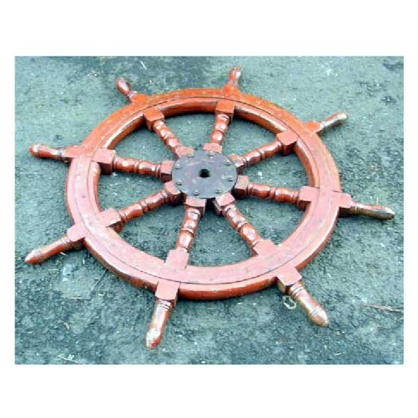 3: Collectable - A hardwood ships wheel with iron bands
