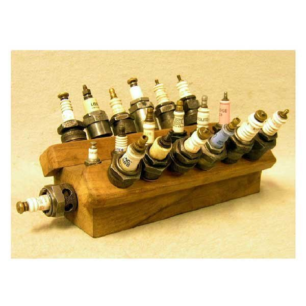 5: Collectable - A collection of nineteen spark plugs m