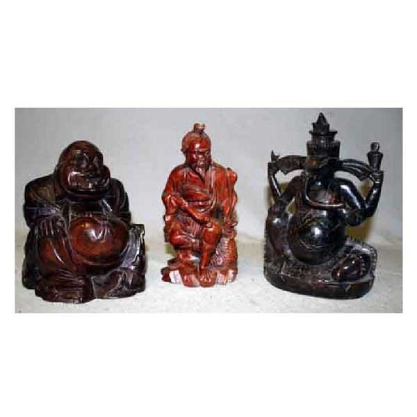 18: Collectable - Three carved eastern buddha style mod
